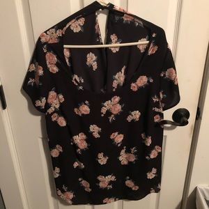 Pink flowered blouse